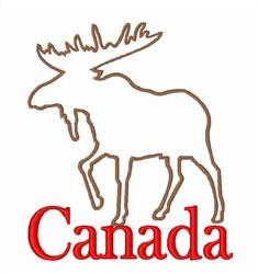 Moose Canada embroidery design