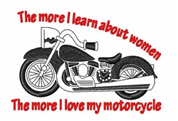 Women Motorcycle embroidery design