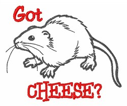 Got Cheese? embroidery design