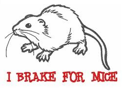 Brake for Mice embroidery design