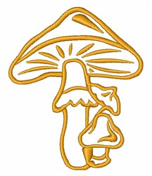 Wild Mushroom Outline embroidery design