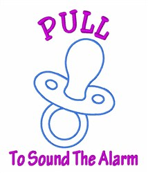 Pull Pacifier embroidery design