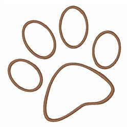 Pawprint Outline embroidery design
