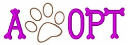 Adopt Pawprint embroidery design