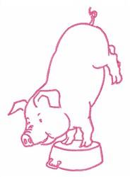 Pig Gymnastics embroidery design
