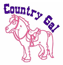 Country Gal embroidery design