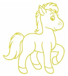 Pony Toy Outline embroidery design