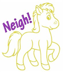 Neigh Horse embroidery design