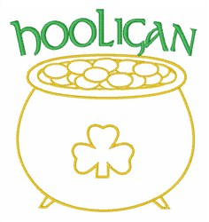 Hooligan Gold embroidery design