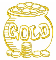 Gold Pot embroidery design