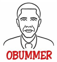 Obummer embroidery design