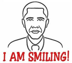 Barack Smiling embroidery design