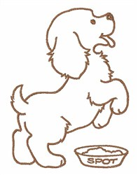 Puppy Outline embroidery design