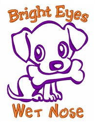 Bright Eyes embroidery design