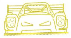 Racing Car embroidery design
