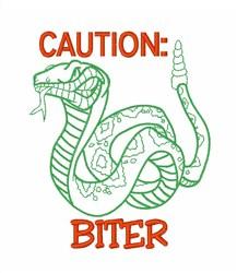Snake Biter embroidery design