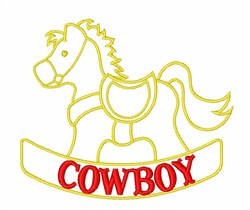 Cowboy Rocking Horse embroidery design
