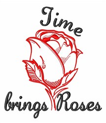 Time Brings Roses embroidery design