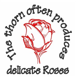 Thorn Roses embroidery design