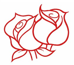 Roses Outlines embroidery design