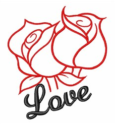 Rose Love embroidery design
