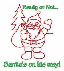 Santas On His Way embroidery design