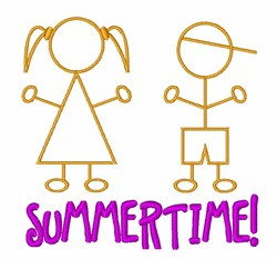 Summertime Kids embroidery design