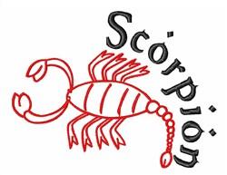 Scorpion Zodiac embroidery design