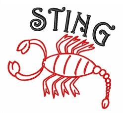 Scorpion Sting embroidery design