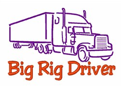 Big Rig Driver embroidery design