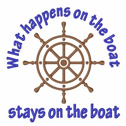 Stays on the Boat embroidery design