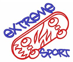 Extreme Sport embroidery design