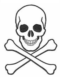 Skull and Cross Bones embroidery design