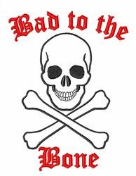 Bad Bone embroidery design