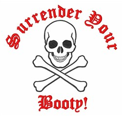 Surrender Booty embroidery design