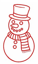 Snowman Outline embroidery design