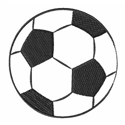 Soccer Ball Outline embroidery design