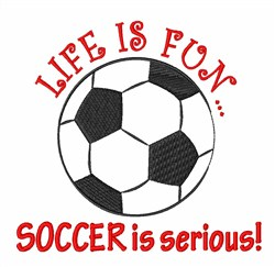 Soccer Serious embroidery design