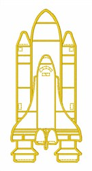 Space Shuttle Outline embroidery design