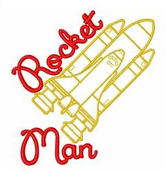 Rocket Man embroidery design