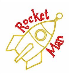 Rocket Man Outline embroidery design