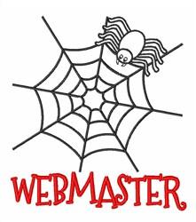 Spider Webmaster embroidery design