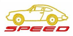 Porsche Speed embroidery design