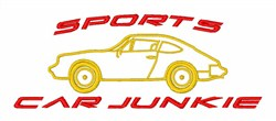 Sports Car Junkie embroidery design