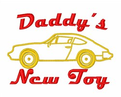 Daddys New Toy embroidery design