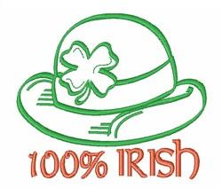 100% Irish embroidery design