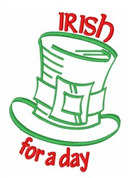 Irish Day embroidery design