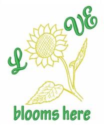 Love Sunflower embroidery design