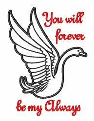 Forever Always embroidery design