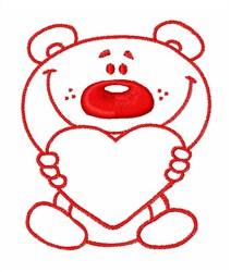 Love Teddy Bear embroidery design